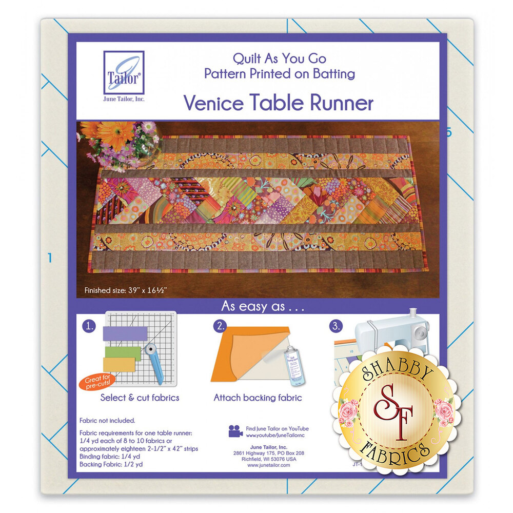 Quilt As You Go Venice Table Runner available at Shabby Fabrics