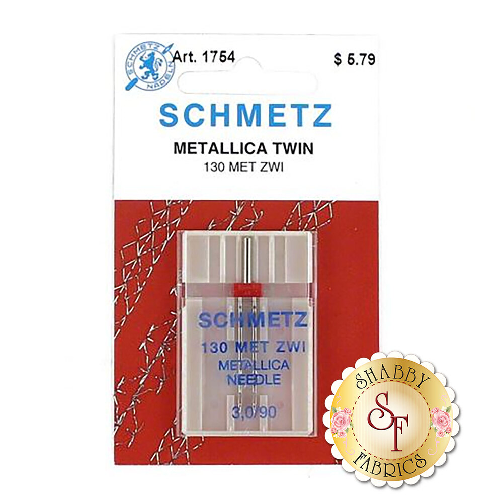 Schmetz Metallic Twin Machine Needle - Size 3.0/90