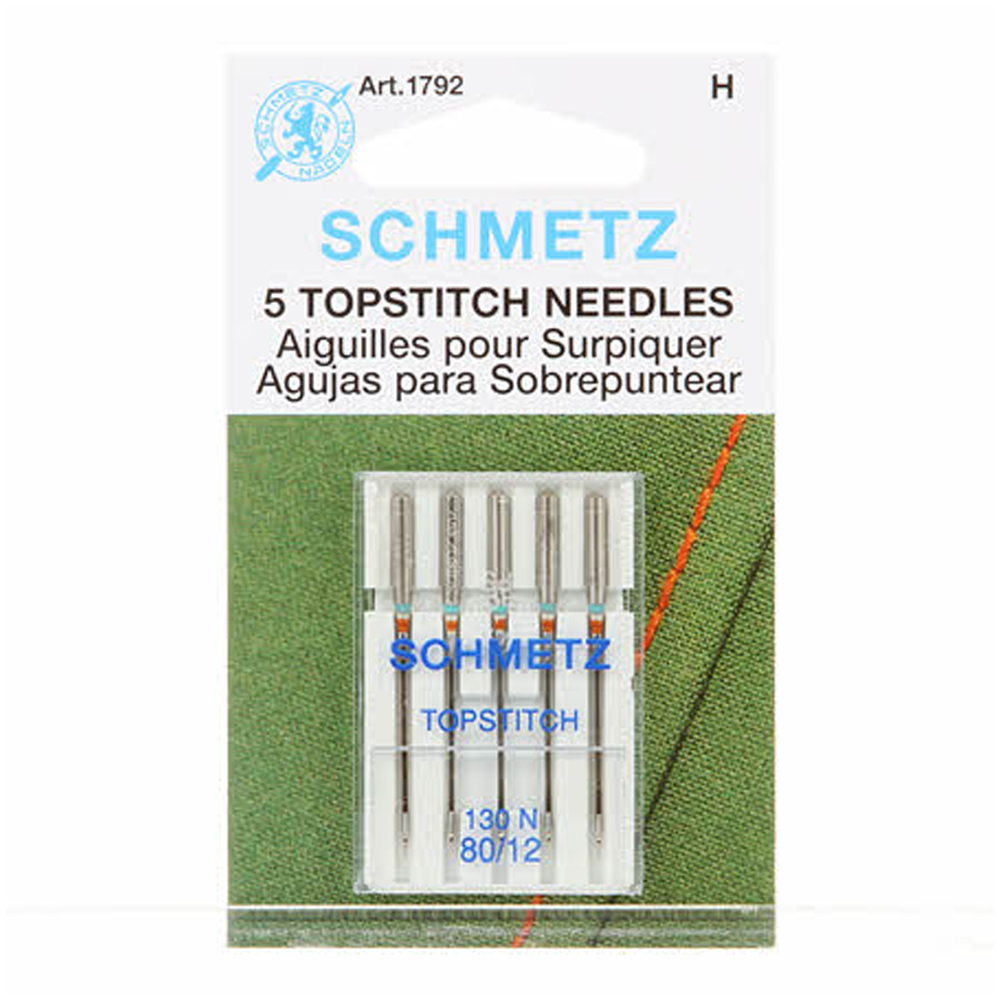 Schmetz Topstitch Needles - Size 80/12 5ct
