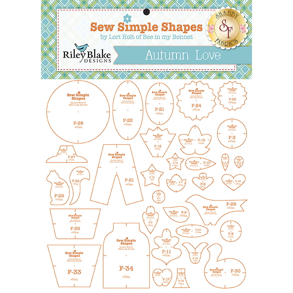 Autumn Love Sew Simple Shapes - Template Set by Lori Holt