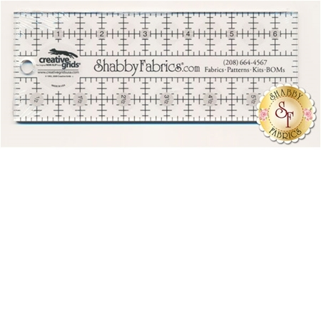 "Shabby Fabrics Rectangle Ruler 2½"" x 6½"" - Creative Grids"