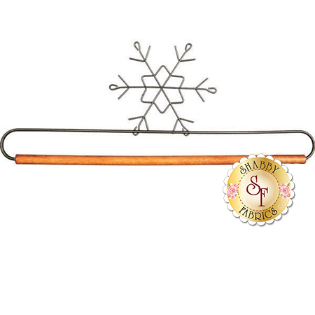 "Craft Holder - 12"" Snowflake with Dowel"