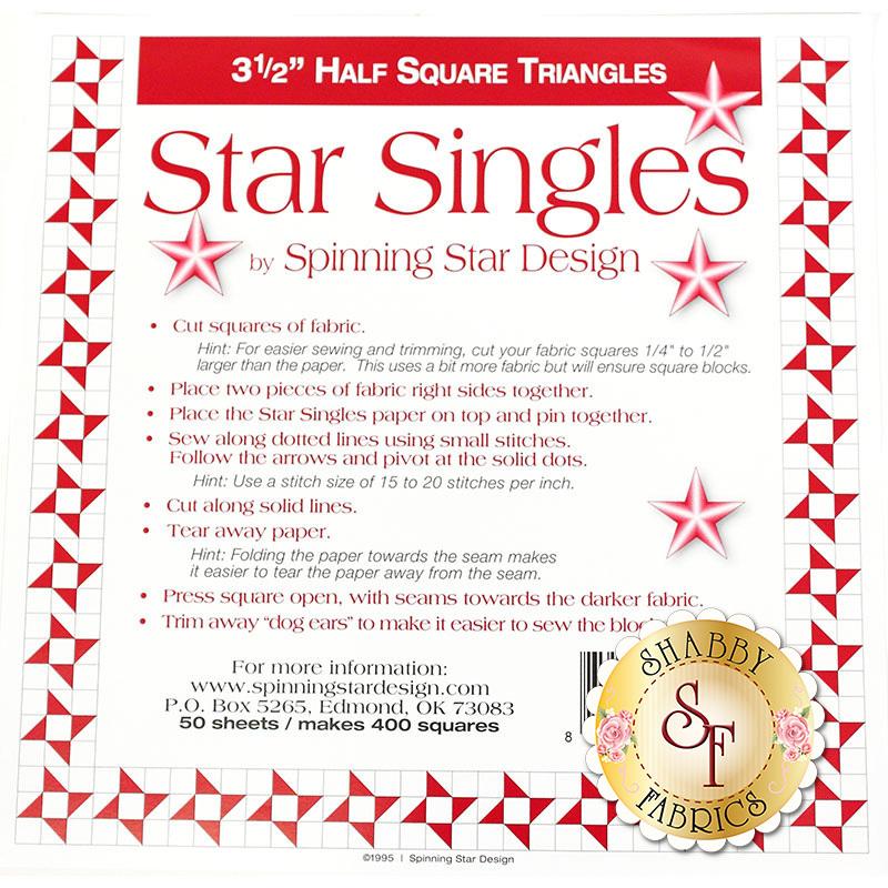 "Star Singles 3½"" Half Square Triangle Paper | Shabby Fabrics"