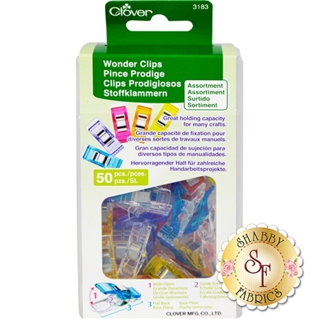 Clover Wonder Clips - Assorted Colors 50ct