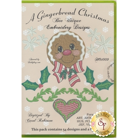 A Gingerbread Christmas Embroidery Designs CD