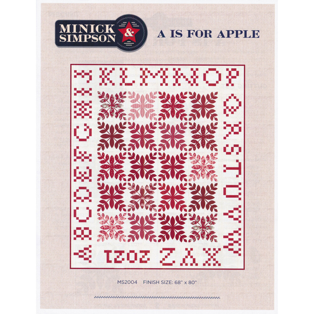 The front of the A is for Apple pattern