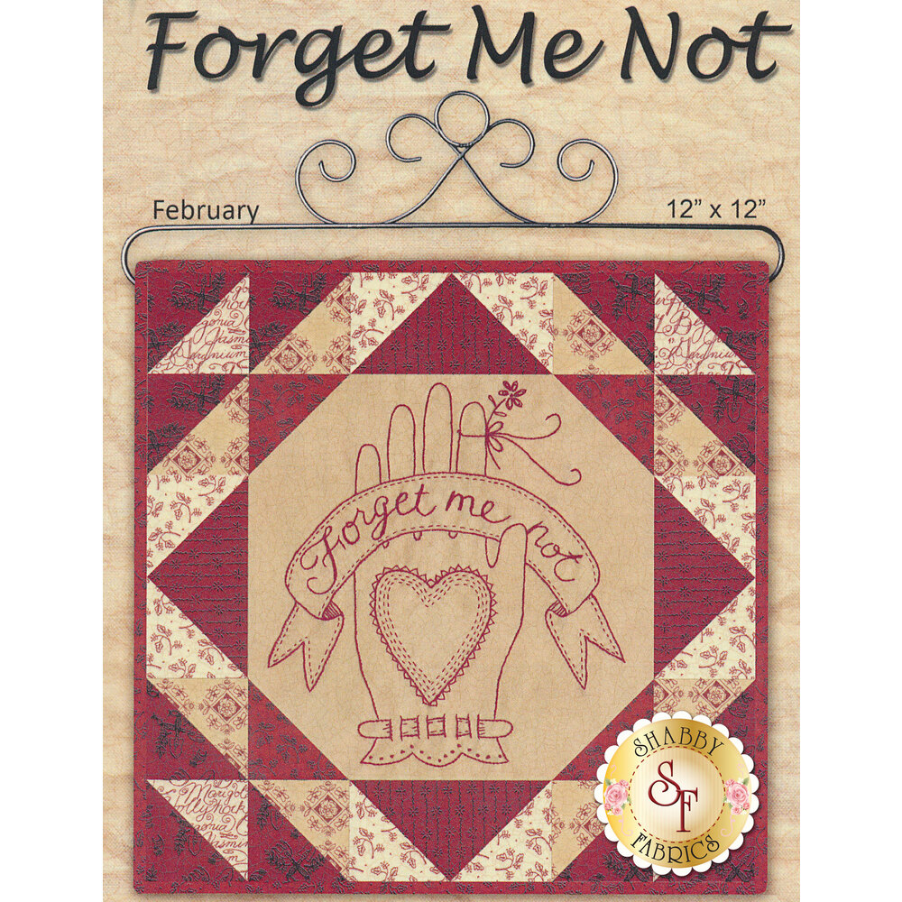 Stitched in Red - Forget Me Not Kit