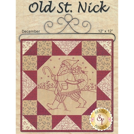Stitched in Red - Old St. Nick Pattern