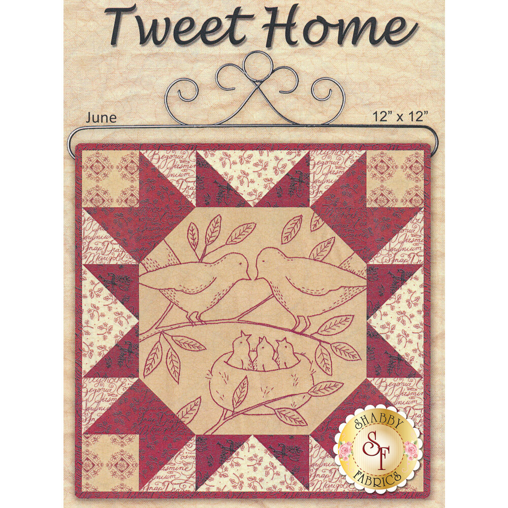 Stitched in Red - Tweet Home Pattern