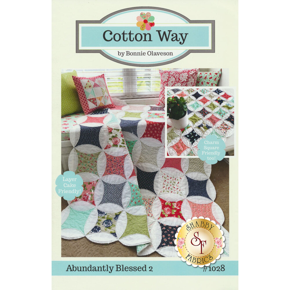 The front of the Abundantly Blessed 2 pattern showing the finished quilt | Shabby Fabrics