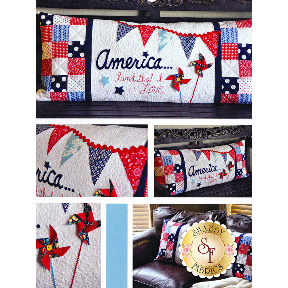 America Land That I Love - Kimberbell Bench Pillow Pattern