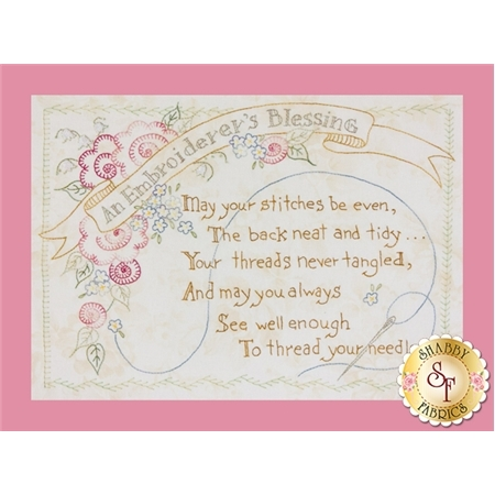 An Embroiderer's Blessing Pattern