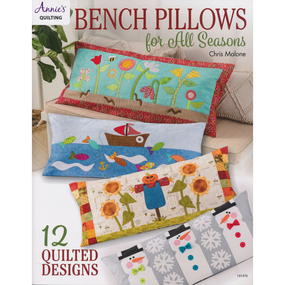 The front of the Bench Pillows for All Seasons book