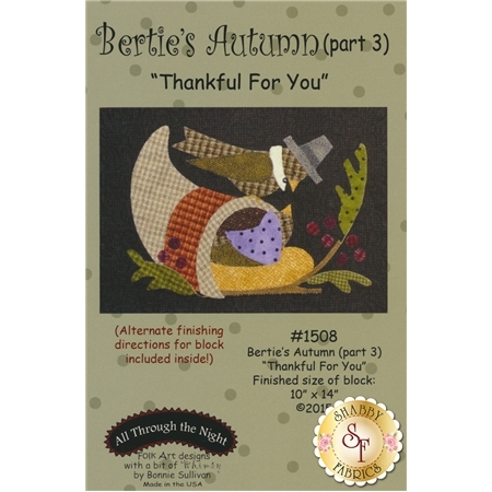 Bertie's Autumn - Part 3 - Thankful For You Pattern