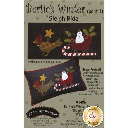 Bertie's Winter - Part 1 - Sleigh Ride Pattern