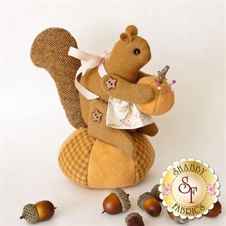 Bitty Squirrel Pincushion pattern