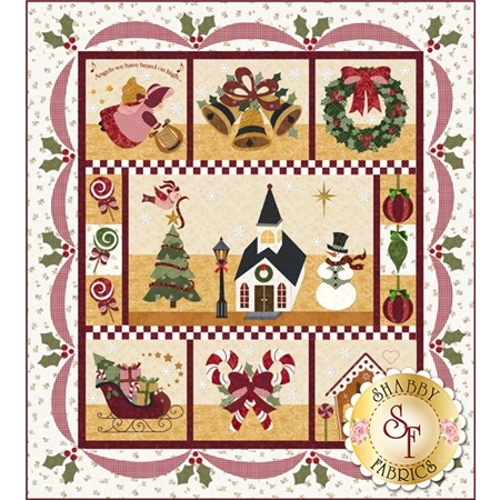 Set of seven blocks with Christmas motifs.