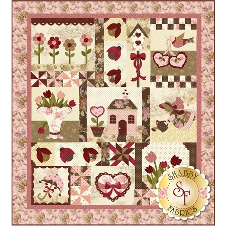 Blessings of Spring : Rebloomed! SAMPLE QUILT - Traditional Applique