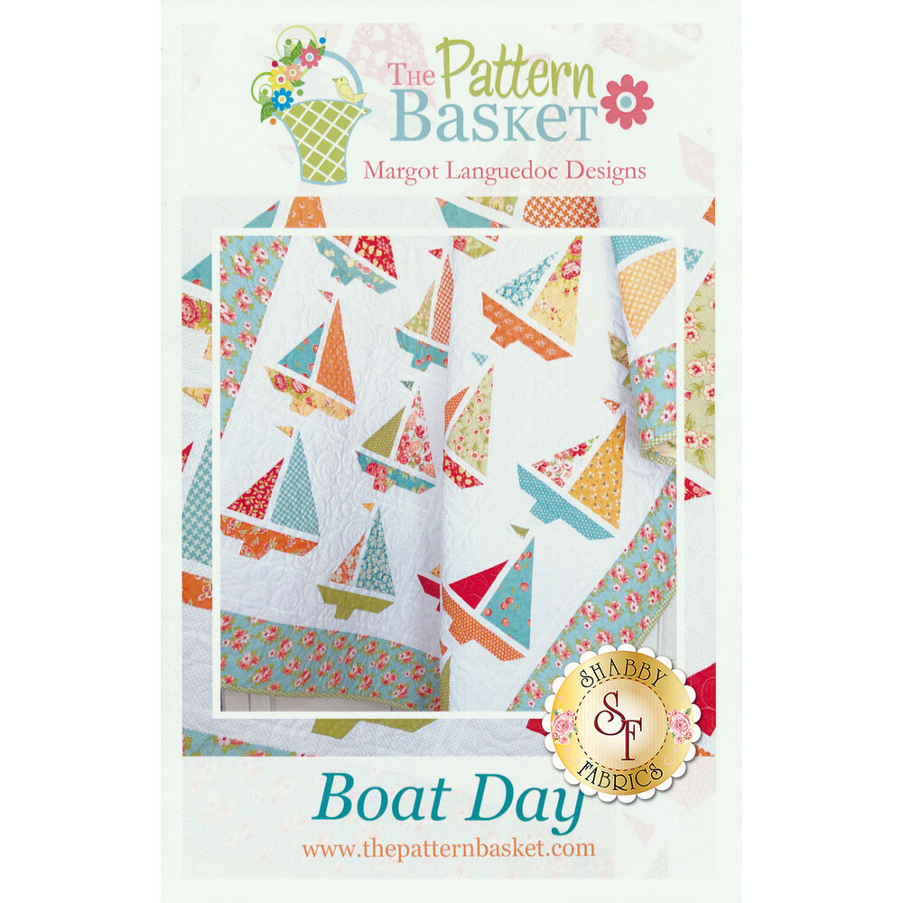 The front of the Boat Day pattern showing the assembled quilt | Shabby Fabrics