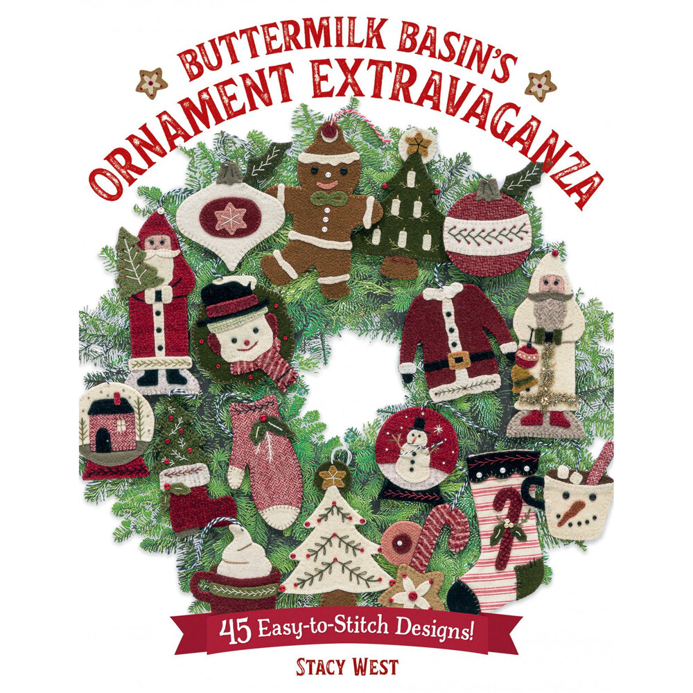 The front of Buttermilk Basin's Ornament Extravaganza Book