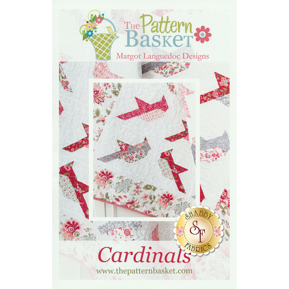 The front of the Cardinals pattern showing some of the finished quilt