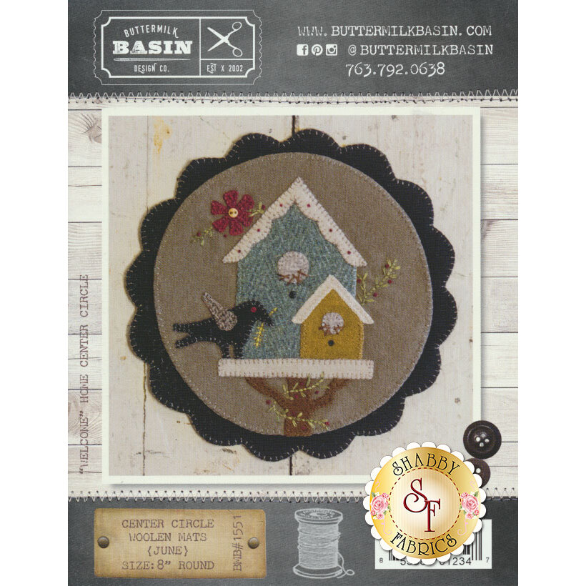 """""""Welcome"""" Home Center Circle Mat - June Pattern available at Shabby Fabrics"""