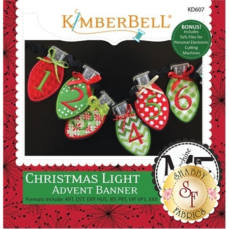 Christmas Light Advent Banner - Machine Embroidery CD