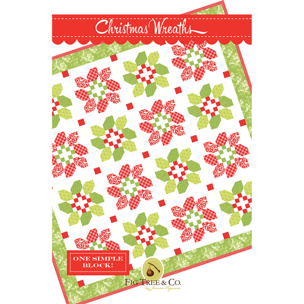 The front of the Christmas Wreaths pattern | Shabby Fabrics