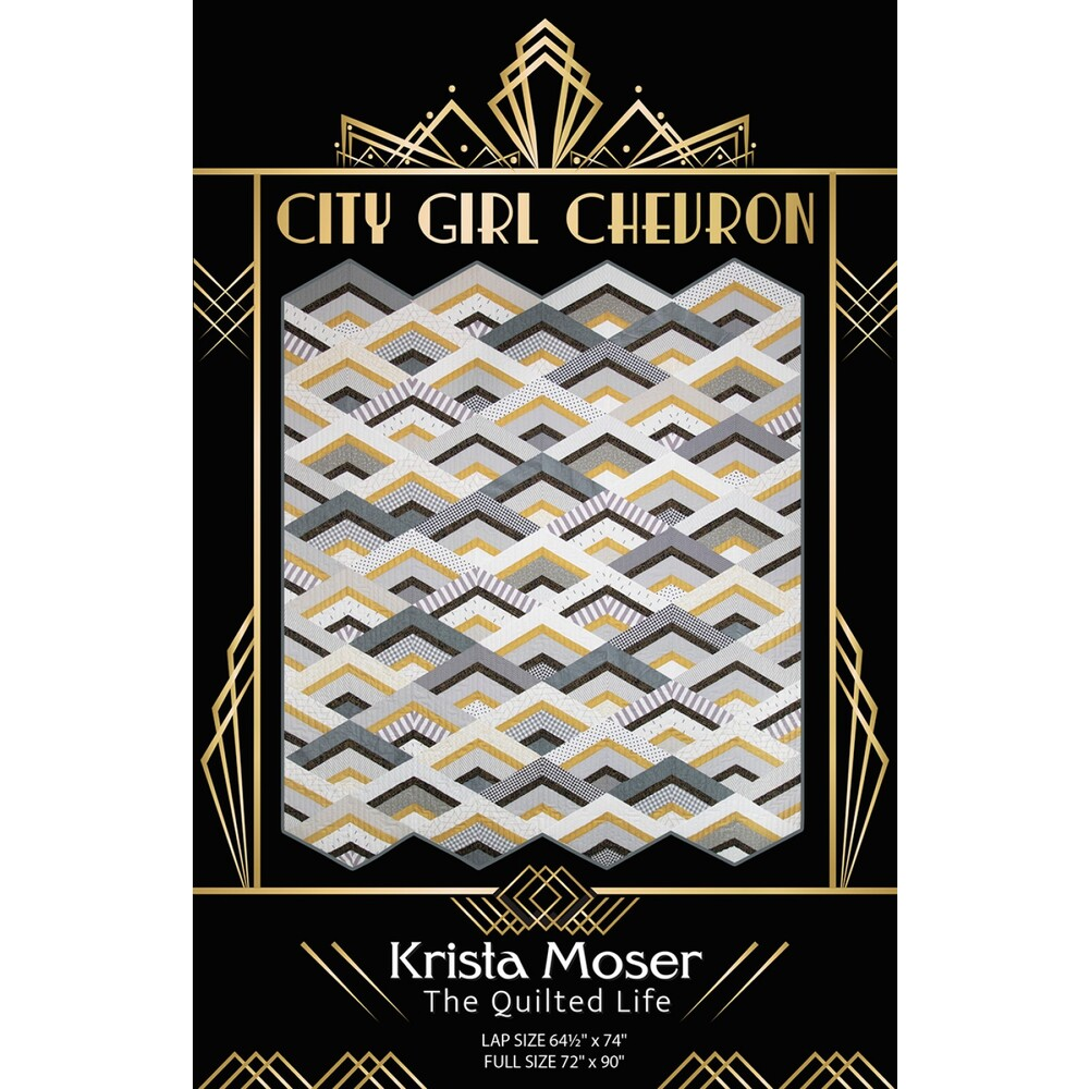 Front of the City Girl Chevron Pattern