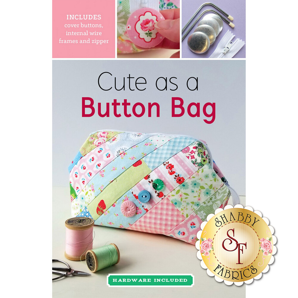 Cute as a Button Bag Pattern - Metal bars included