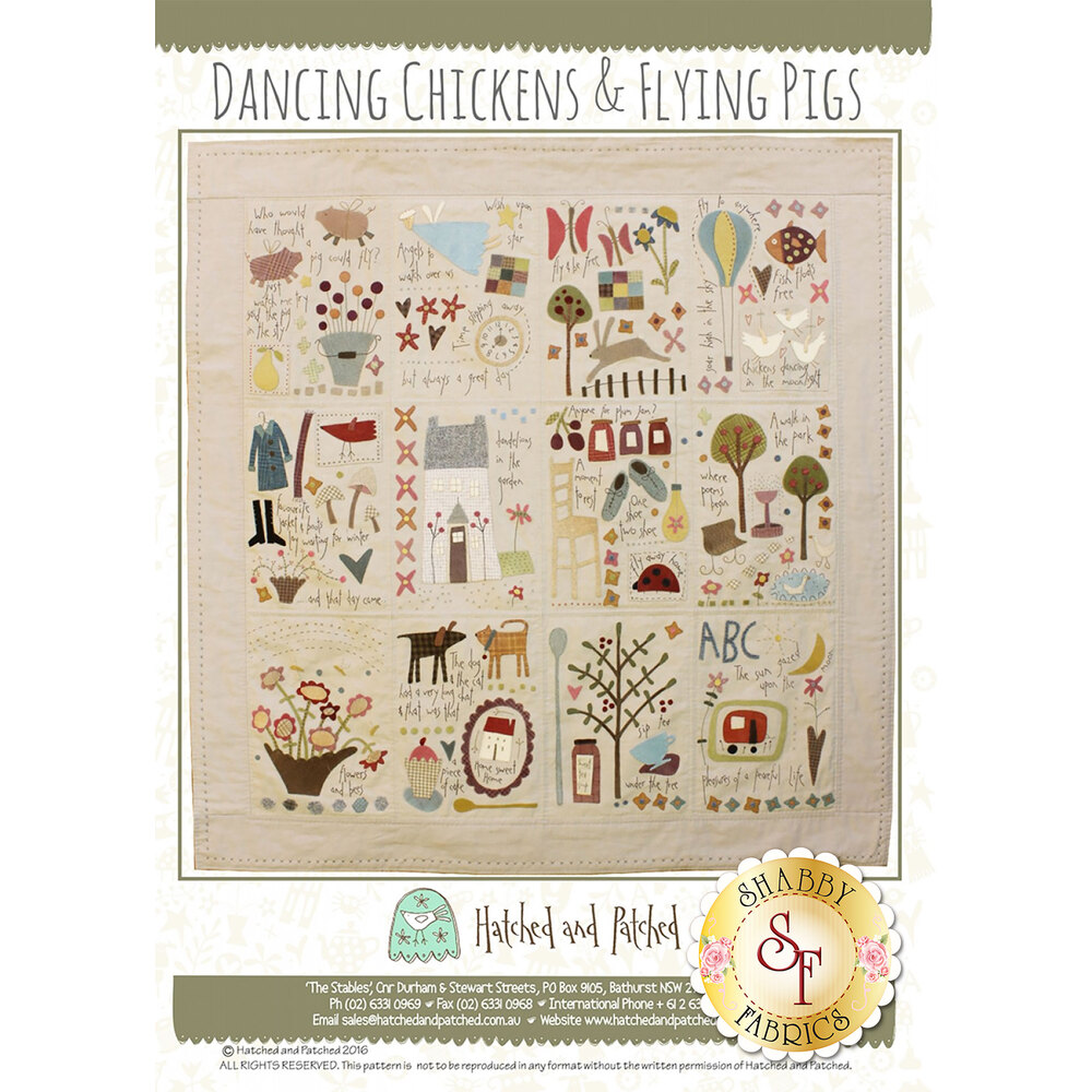 Dancing Chickens & Flying Pigs Pattern