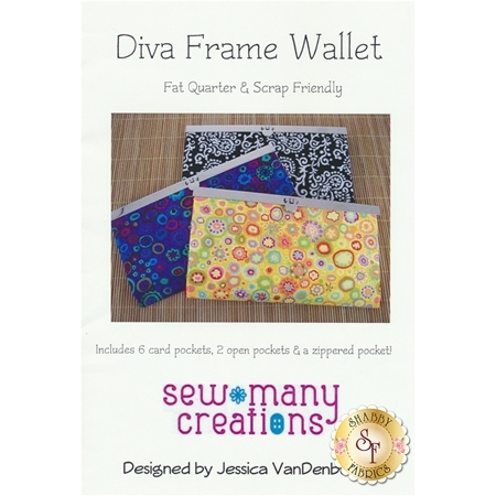 Diva Frame Wallet Pattern - Sew Many Creations