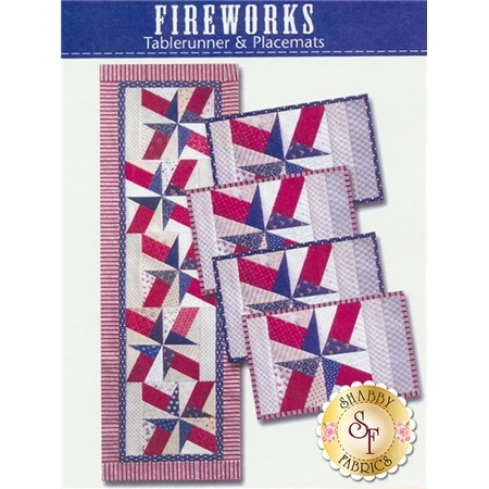Fireworks Tablerunner & Placemats Pattern