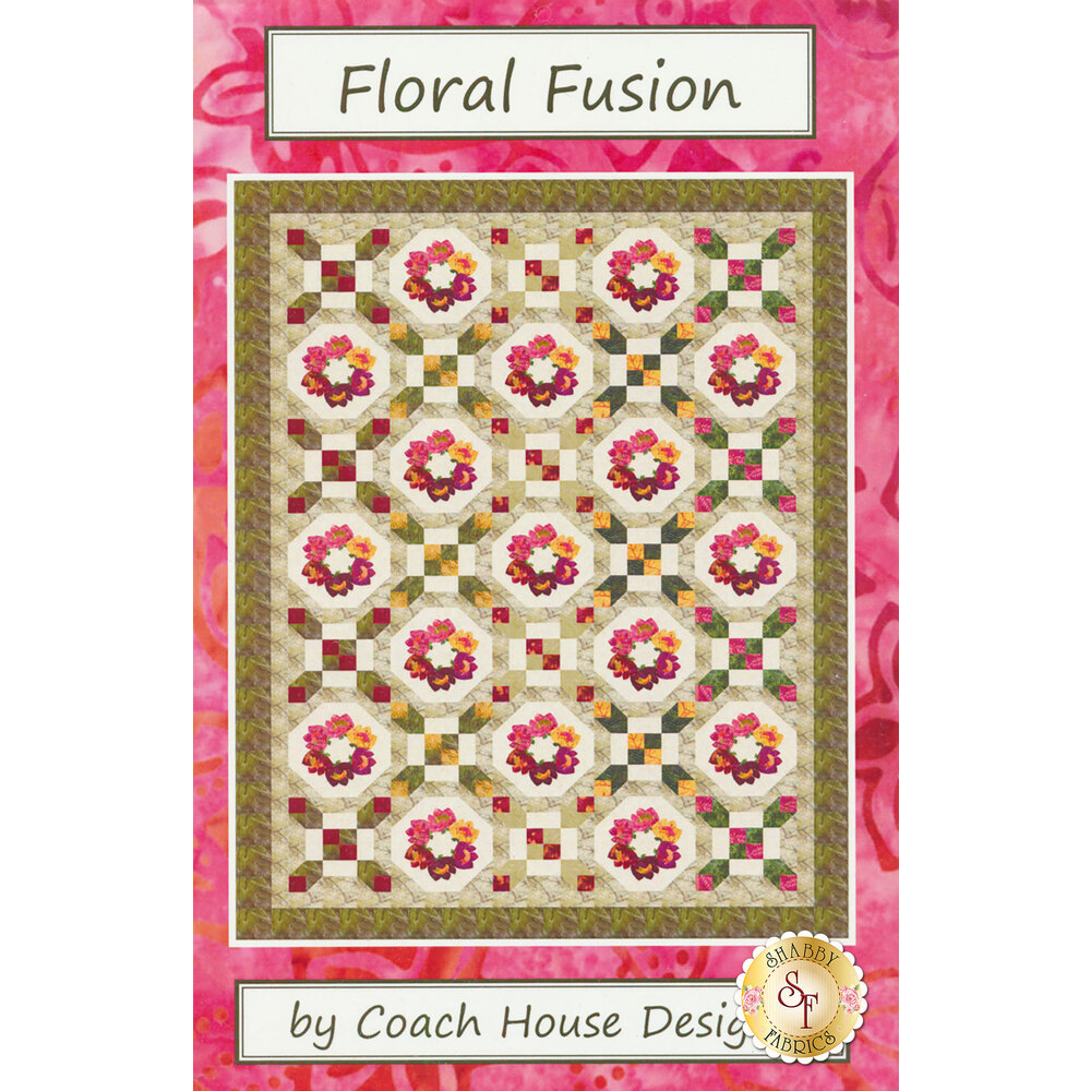 Floral Fusion Twin Quilt