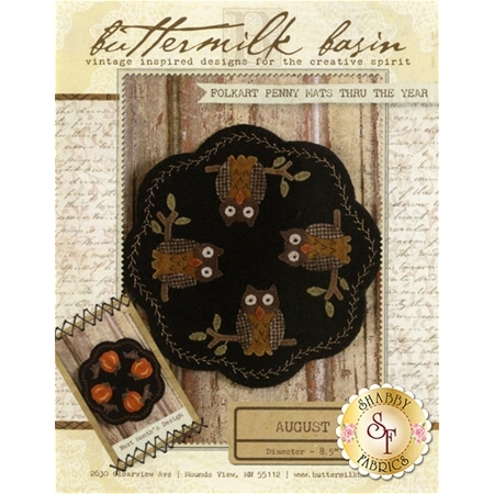 Folkart Penny Mats Thru The Year - August Pattern