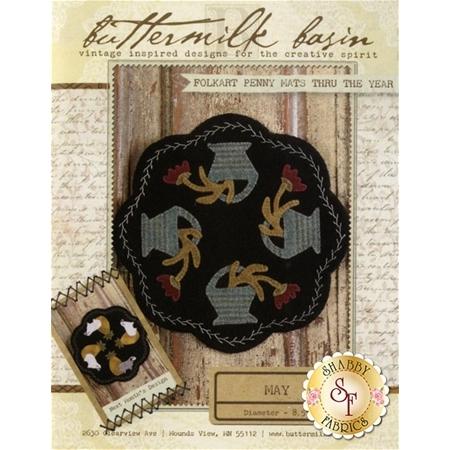Folkart Penny Mats Thru The Year - May Pattern