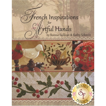 french countryside inspired decorations with patchwork wool and embroidery