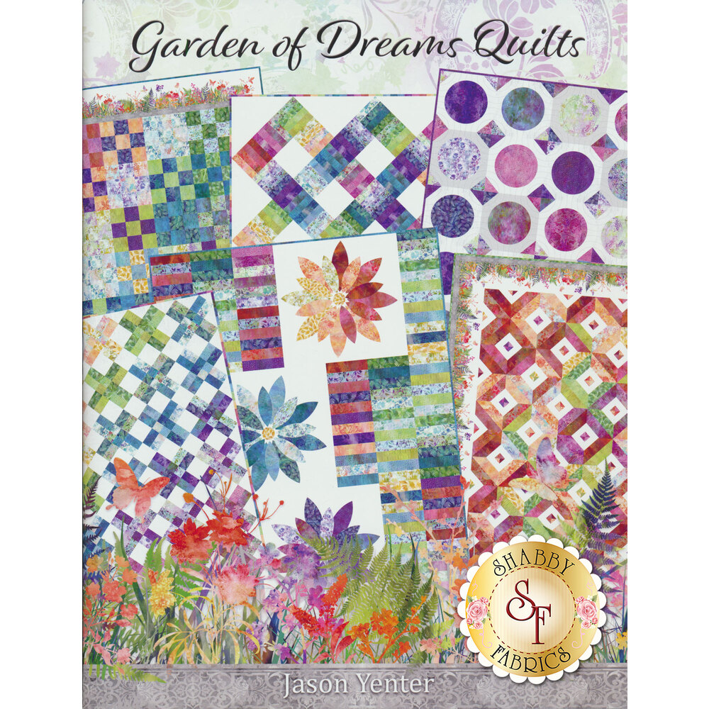 Front image of the Garden of Dreams Quilt Book | Shabby Fabrics
