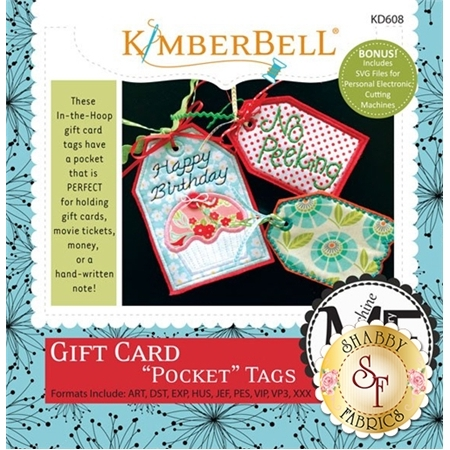 Gift Card Pocket Tags - Machine Embroidery CD