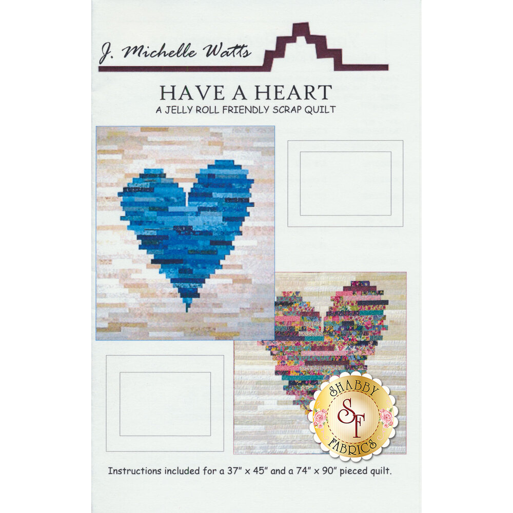 The front of the Have A Heart pattern | Shabby Fabrics