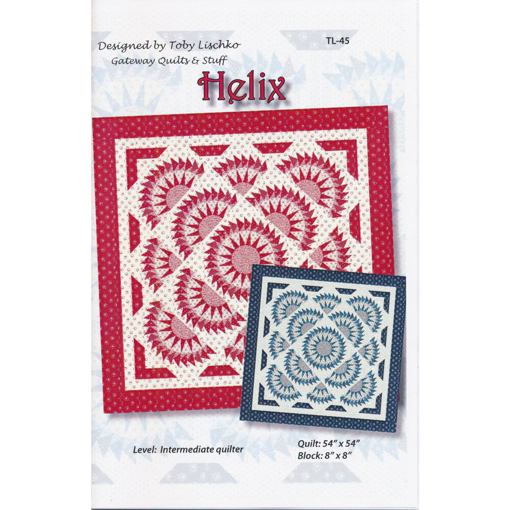 The front of the Helix quilt pattern