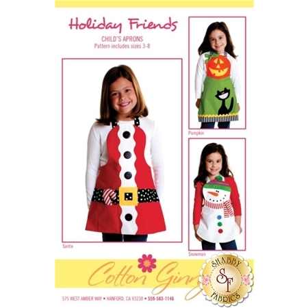 Holiday Friends Child's Aprons Pattern