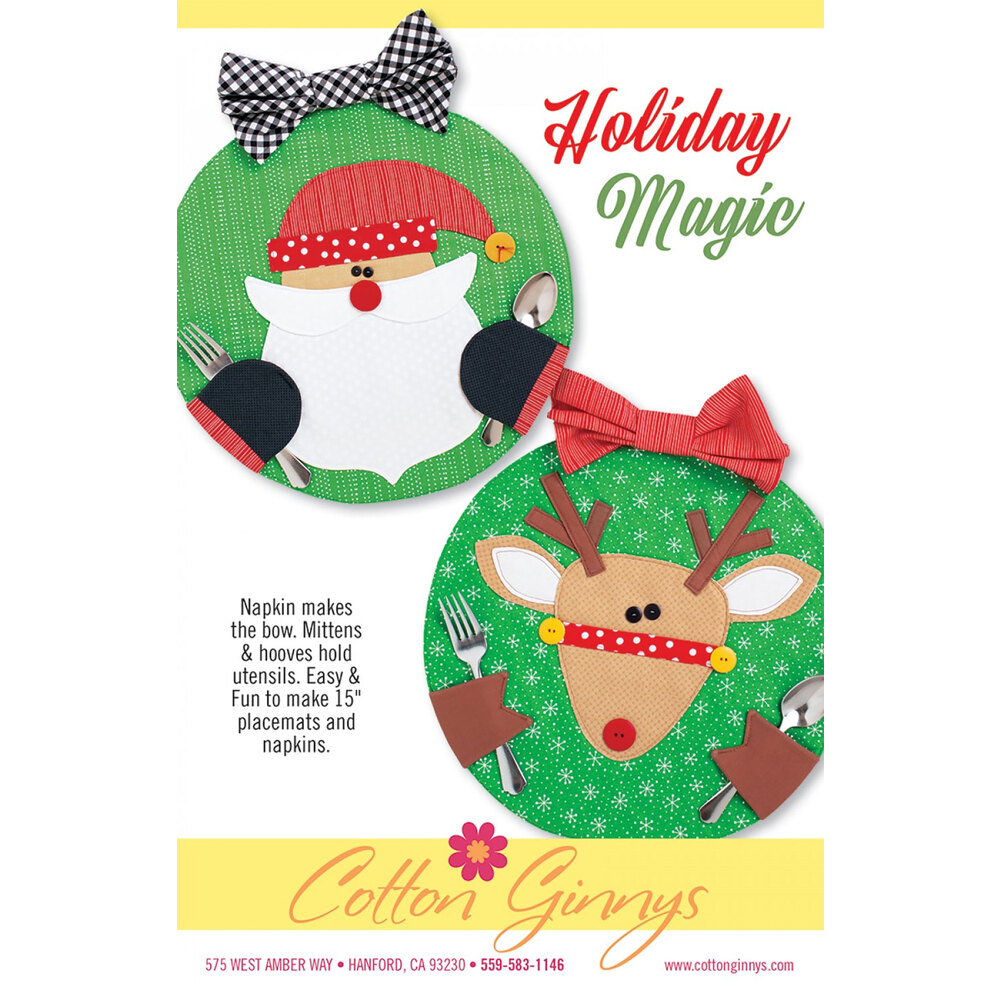Holiday Magic Placemats Pattern