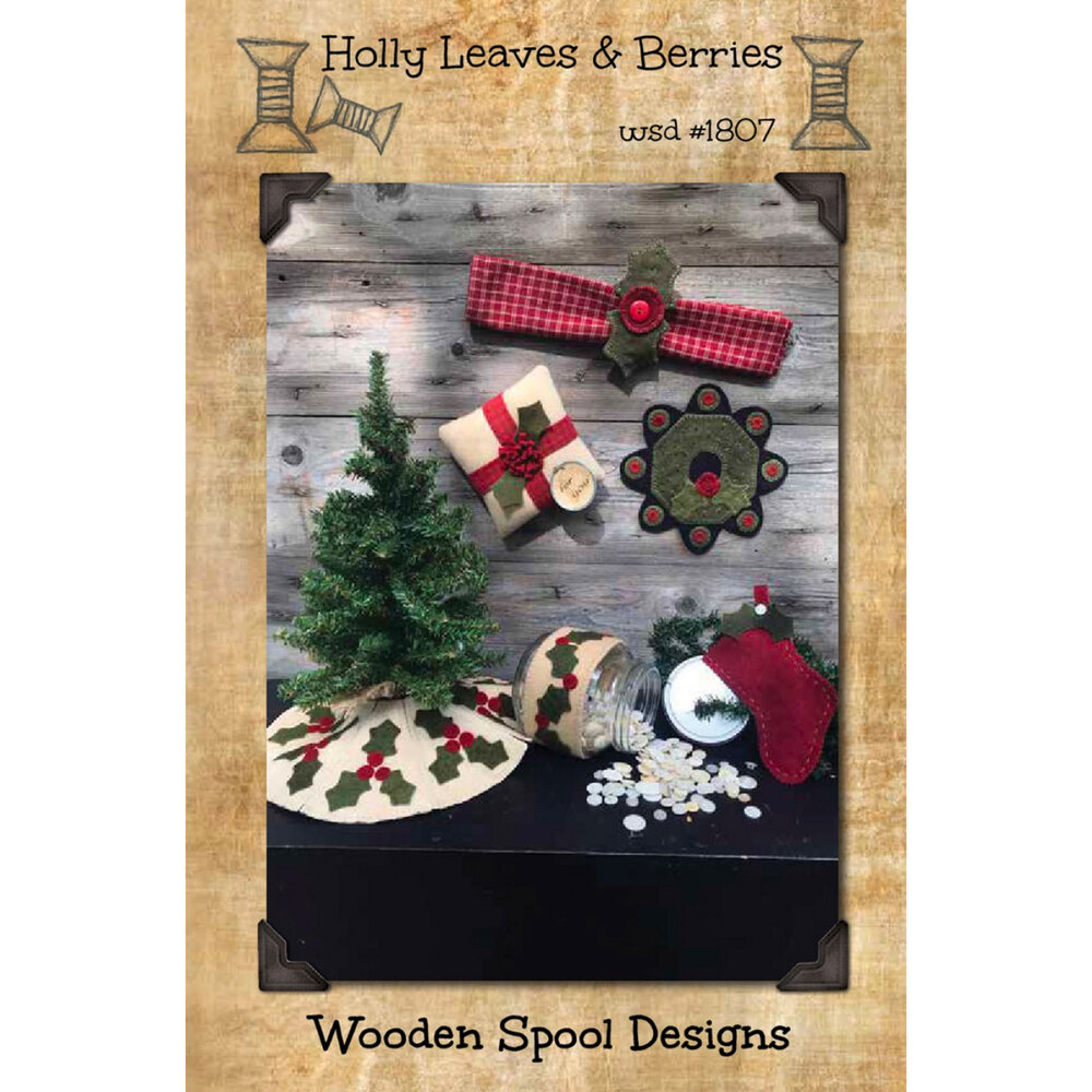 Holly Leaves and Berries Pattern