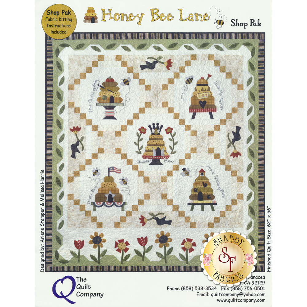 Honey Bee Lane - Set of 6 Patterns and Shop Kit Packet