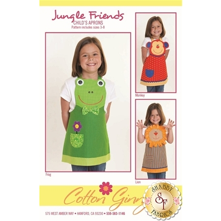 Jungle Friends Child's Aprons Pattern