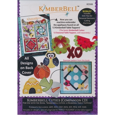 Kimberbell Cuties Companion Machine Embroidery CD