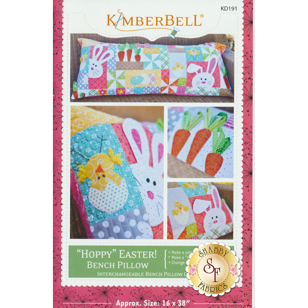 "Kimberbell ""Hoppy"" Easter Bench Pillow Pattern available at Shabby Fabrics"