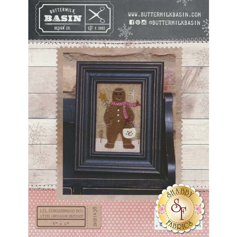 Lil Gingerbread Boy With Snowman Bucket Pattern now avaialble