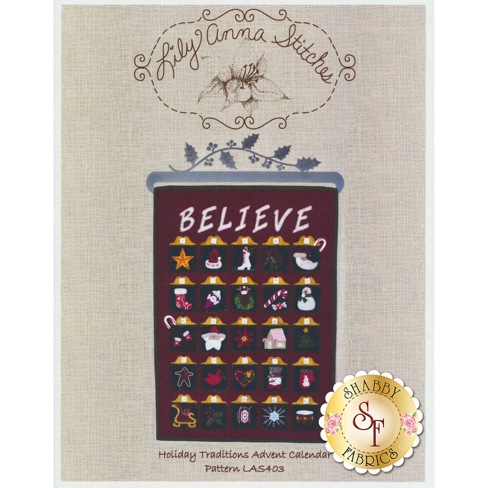 Holiday Traditions Advent Calendar Pattern available at Shabby Fabrics